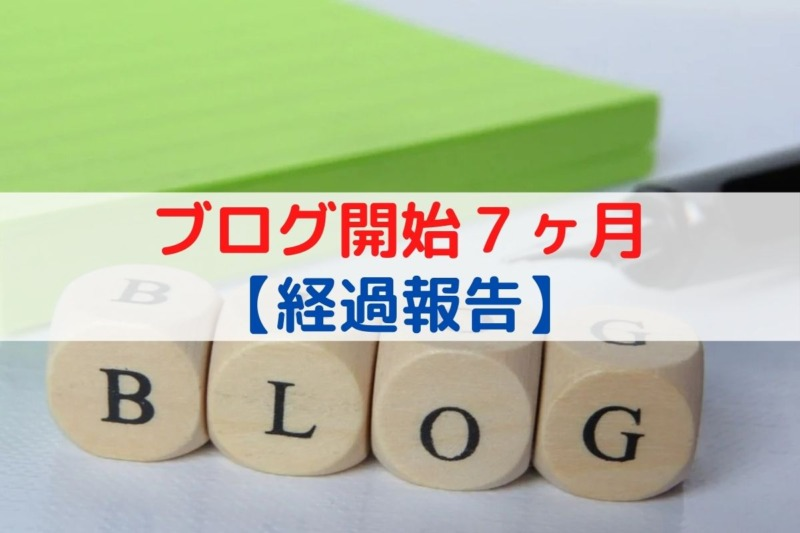 ブログ開始7ヶ月